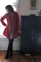 Ebay jacket - banana republic dress - Steve Madden boots