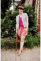 Gap hat - Forever 21 jacket - Mulberry bag - Gap shorts - Nine West wedges - Old