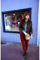 Jeffrey Campbell boots - Urban Outfitters coat - Target shirt - kate spade bag -