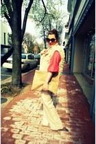American Apparel bag - Anthropologie pants - Anthropologie blouse - Topshop vest