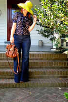 Anthropologie hat - Victorias Secret blouse - Old Navy jeans - seychelles shoes
