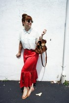 Anthropologie skirt - Forever 21 shirt - Mulberry bag - asos sunglasses