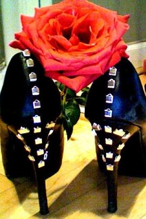 D.I.Y studded heels