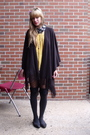 Gold-forever-21-dress-gray-nordstrom-stockings-black-cache-shoes-gray-aldo