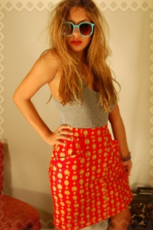 red Sickboy skirt