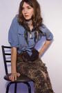 Tawny-narcisco-rodriguez-sandals-brown-chicshopca-vintage-skirt-sky-blue-vin