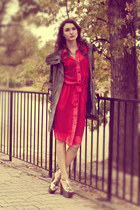 red Romwecom dress