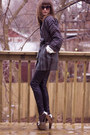 Silver-jessica-simpson-shoes-black-zara-pants-brown-anne-klein-coat