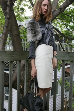 white danier skirt