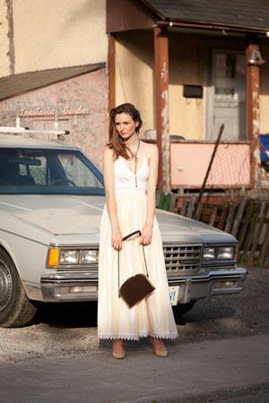 vintage skirt - NafNaf blouse