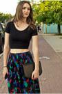 Black-american-apparel-top-dark-gray-chloe-skirt