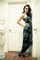 teal Halston dress