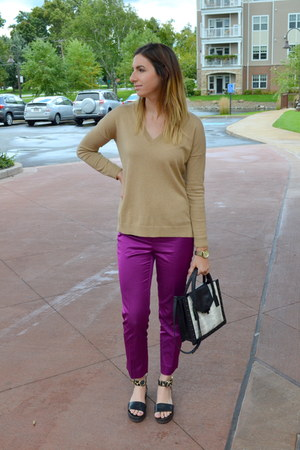 Gap sweater - loeffler randall bag - ann taylor pants