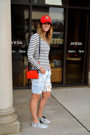 JCrew hat - kate spade bag - DIY shorts - ann taylor top - Vans sneakers