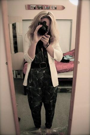 vintage Miss Selfridge romper - white H&M blazer