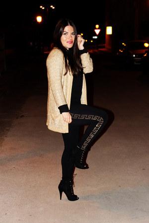 black versace leggings