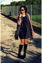 black wedges Hispanistas boots - black Lipsy dress
