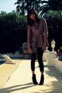 Black-zara-boots-pink-knit-peplum-zara-jacket