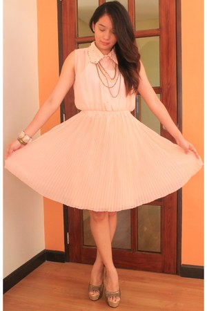 light pink Korean dress dress