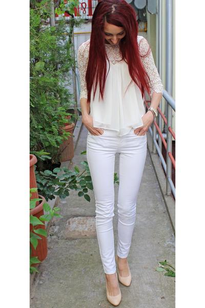 white pants Zara pants
