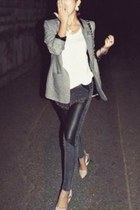 charcoal gray womens jacket blazer