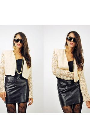 beige vintage 80s jacket