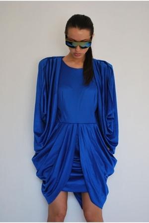 blue vintage 80s dress