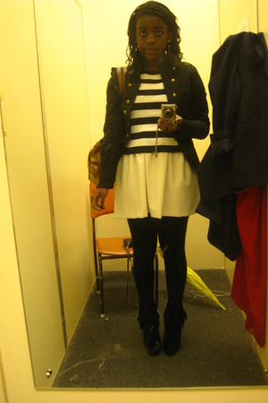 jacket - thrifted express top - homemade skirt - cotton on tights - Classified s
