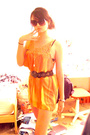 Orange-charlotte-russe-dress-black-tillys-belt-black-forever-21-bracelet-g
