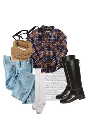 svpply shirt - Luis Aviaroma boots - Dickies jeans - folded snood Topshop scarf