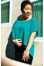 Aquamarine-forever-21-blouse