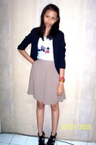 ins tailor blazer - Forever21 shirt - Secondhand pants - I made it necklace - Gi