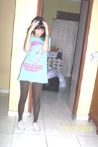 tendencies t-shirt - tights - Converse shoes - Forever21 accessories