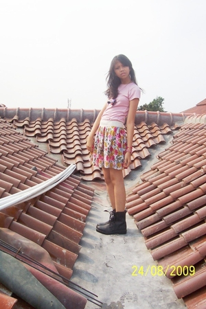 shirt - Forever21 skirt - shoes - DIY stuff necklace