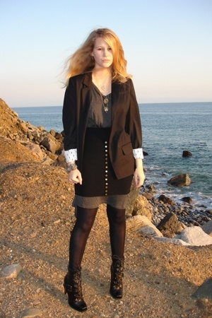 black Erin Wasson x RVCA blazer - black Jessica Simpson shoes