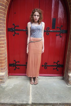 maxi Miss Selfridge skirt - new look sandals - bralet new look top