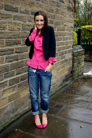 Dorothy Perkins heels - River Island jeans - H&M blazer - H&M blouse