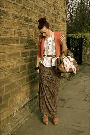Topshop dress - Topshop jacket - Topshop bag - Topshop blouse - Swaroski necklac