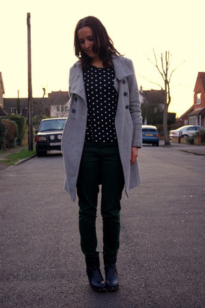 Zara coat - Ebay boots - Zara jeans - Zara top - Michael Kors watch