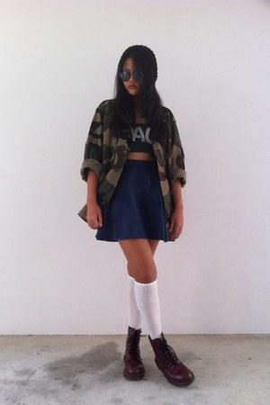 skirt - jacket - socks - top