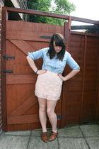 new look skirt - Primark shirt - new look shoes