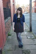 vintage skirt - charity shop shoes - Topshop cardigan