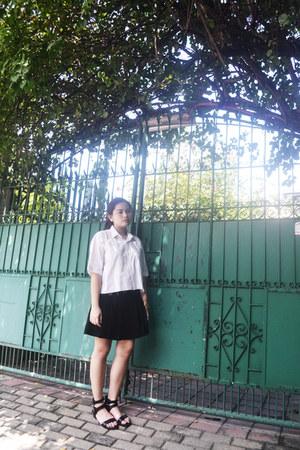 black Papaya clothing skirt - black Forever 21 sandals
