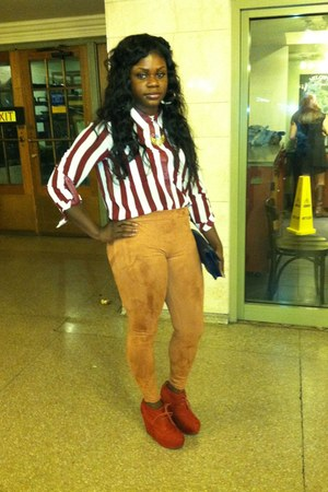 mustard suede f21 leggings