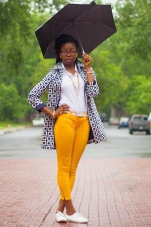 navy raincoat talbots coat - white button down talbots blouse