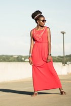 salmon maxi The Limited dress