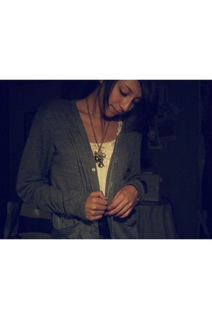 American Apparel sweater - Urban Outfitters blouse - Betsey Johnson necklace - F