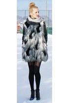 faux fur pull&bear coat