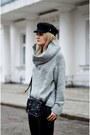 Black-black-vintage-hat-heather-gray-unknown-sweater