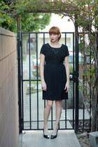 black vintage dress - black vintage heels